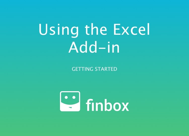 Using the Excel Add-in