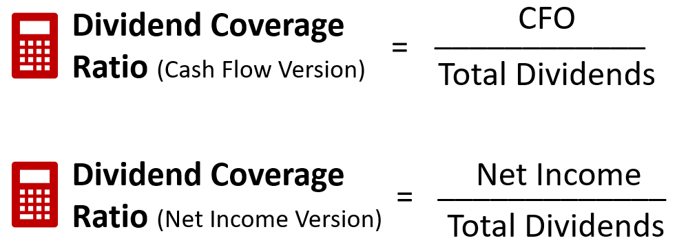 dividend coverage ratio formula