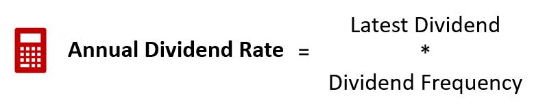 dividend rate formula