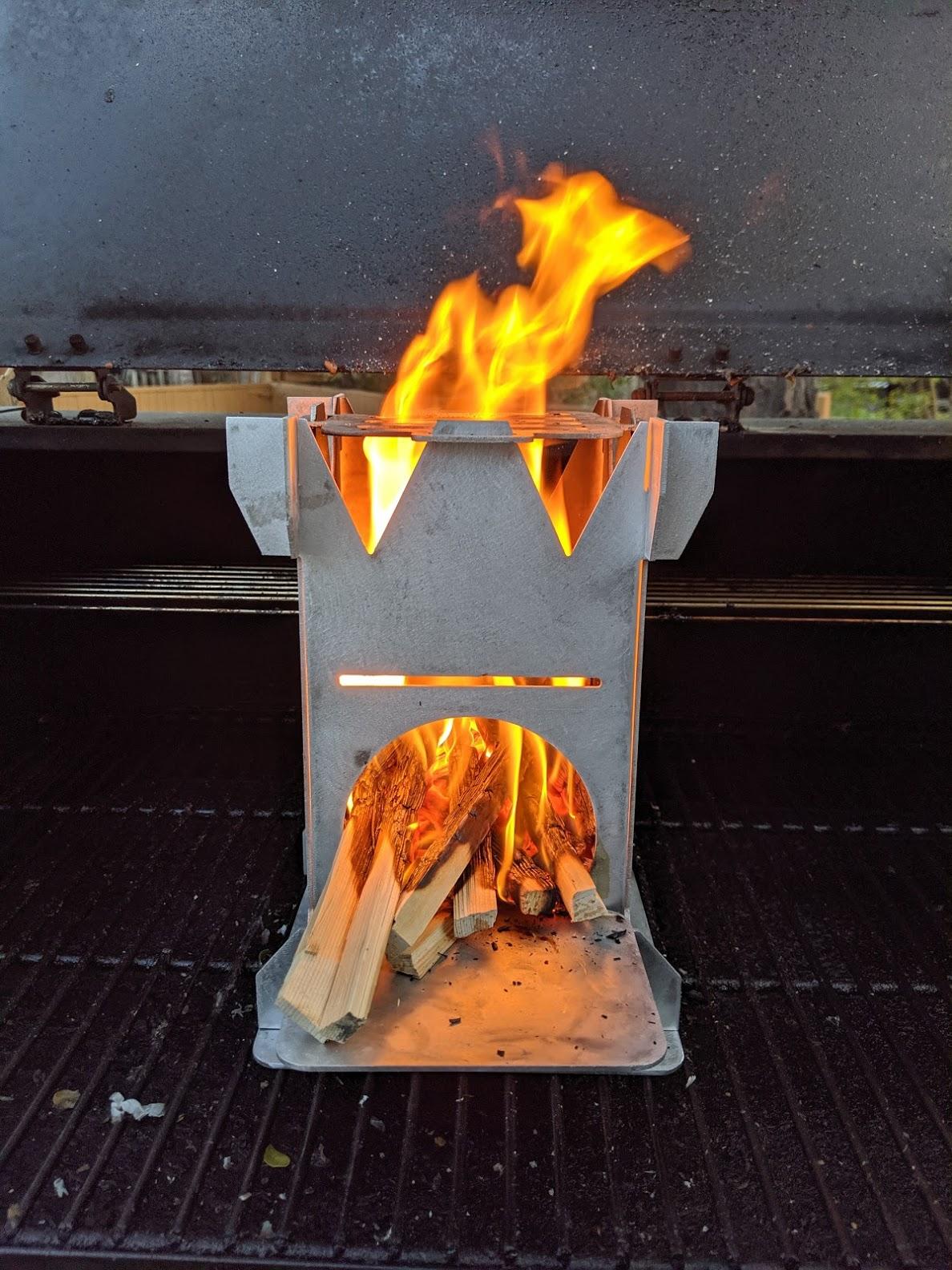 Wood Burning Flat Pack Rocket K-Stove