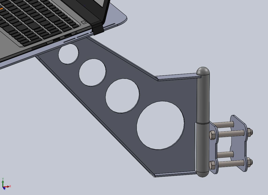 Laptop Stand For Crossfire Fireshare Langmuir Systems