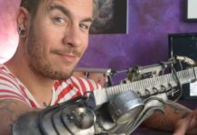 tattoo machine prosthetic arm