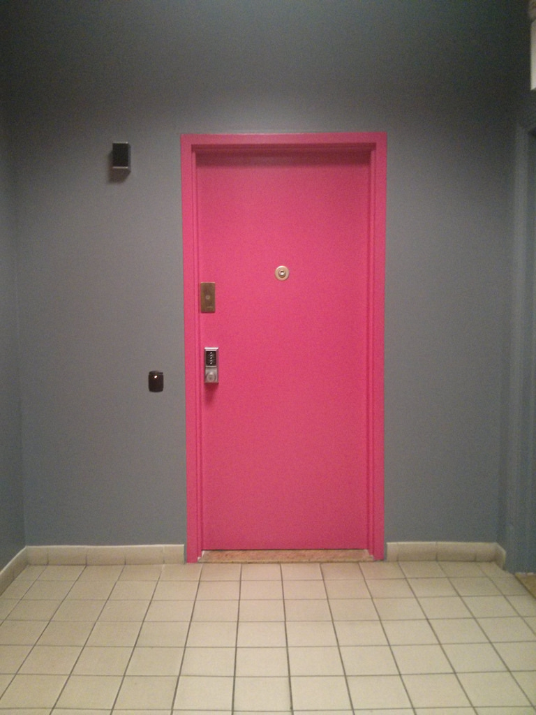 The pink door wonu0027t budge. It seems like itu0027s probably locked from the other side. You can see a trickle of light from under the door. & Haunted House - Pink Door | First to Know