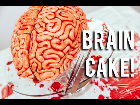 How to Make a Red Velvet Brain Cake