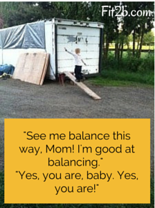 Kids can learn balance anytime, anywhere! Fit2b.com