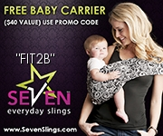 Get a free baby sling with code Fit2B