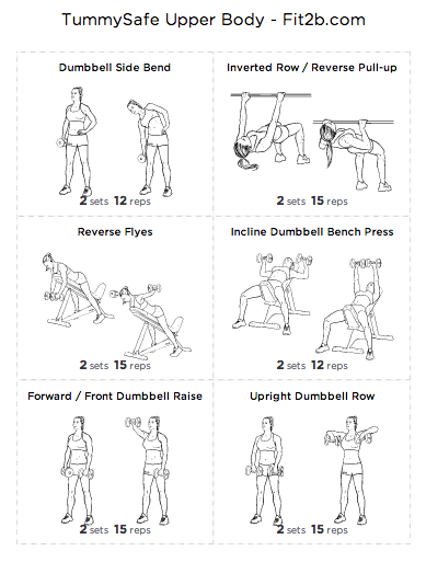 TummySafe Upper Body Workout - Fit2B Studio