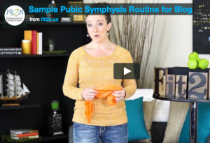 Sample some exercises for Symphysis Pubis Dysfunction from Fit2B.com