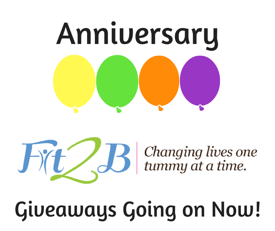 Anniversary Celebration for Fit2B! Giveaways going on now!