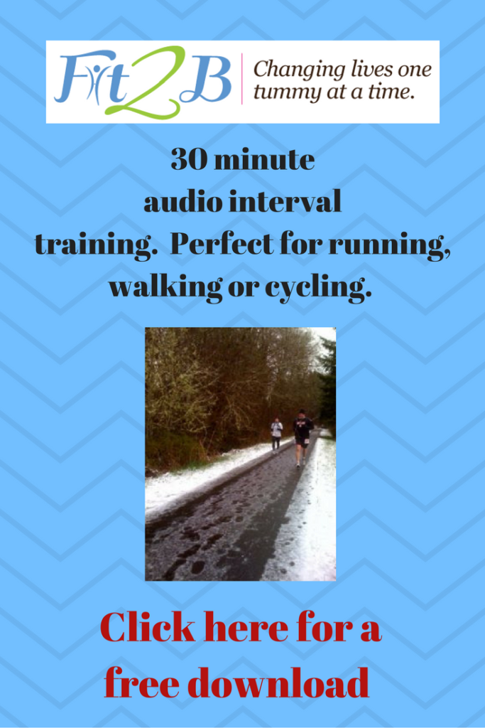 Free 30 minute audio interval training. Fit2b.com