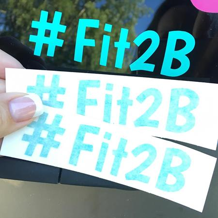 Fit2B Vinyl Decal #fit2b – available at fit2b.com