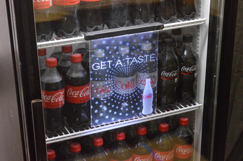 Invisi Sign Coca Cola Displays