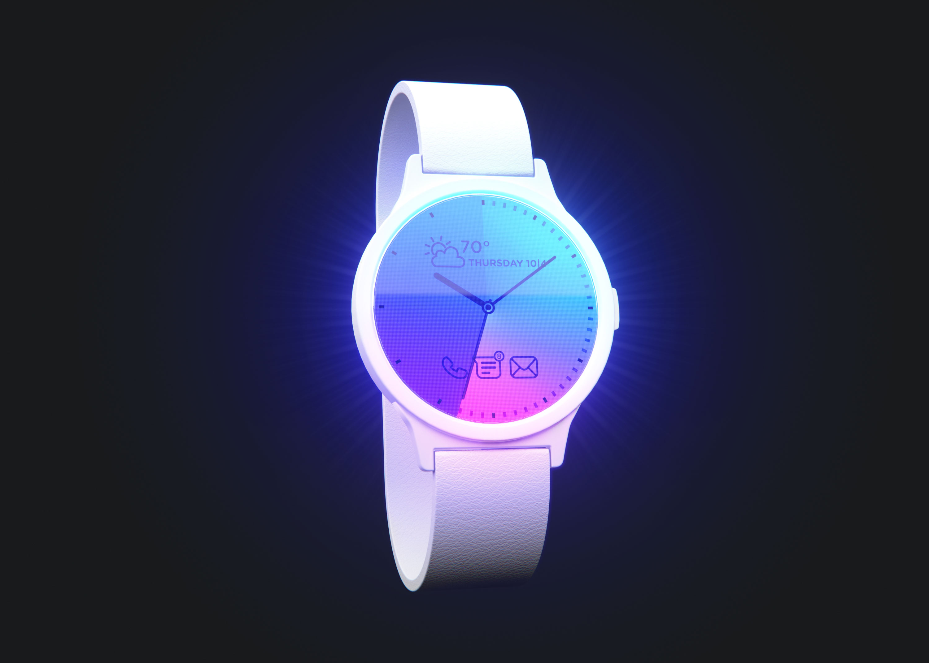Frontlit Smartwatch Wearable Device