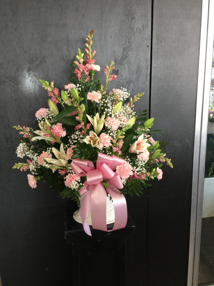 Pink and Lavender Basket by Fasan Florist