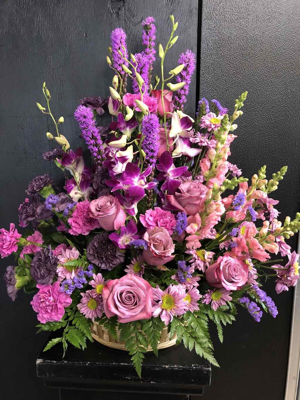 Gracious Lavender Basket by Fasan Florist