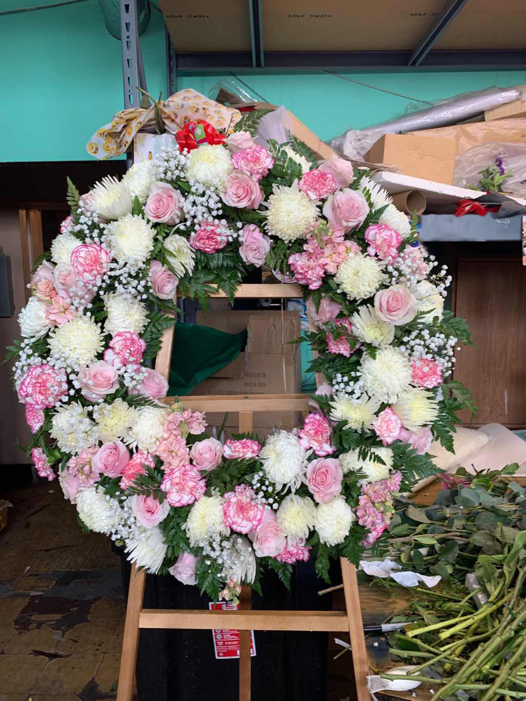 Peace Eternal Wreath by Fasan Florist