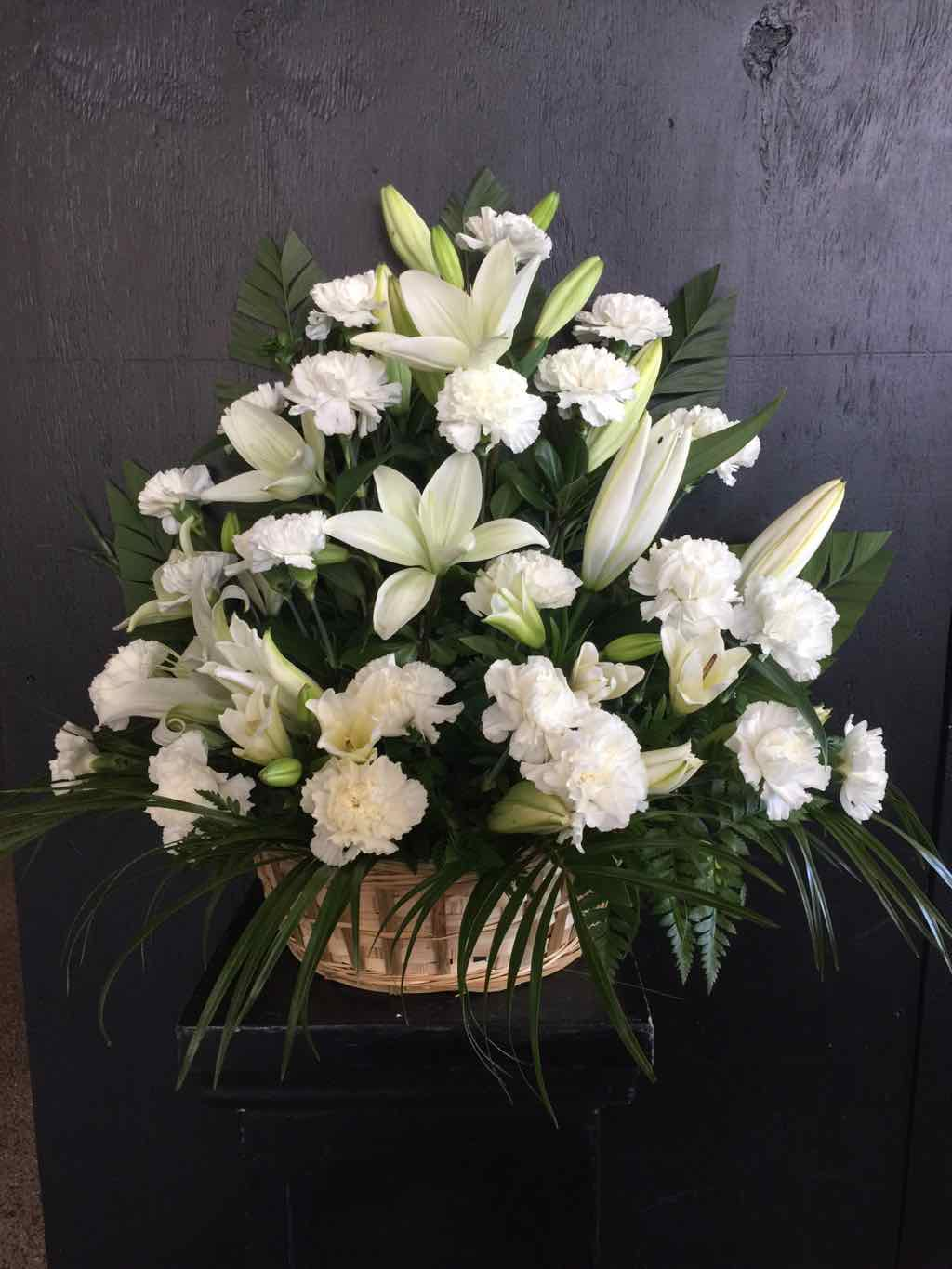 Serene Lily Basket by Fasan Florist