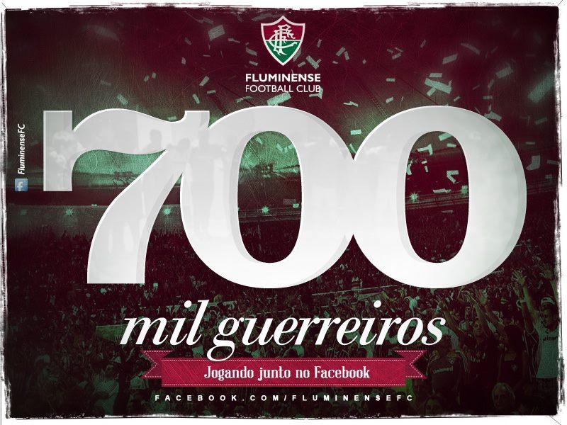 7b1de90af5 Nesta semana o Facebook oficial do Fluminense atingiu a marca de 700 mil  curtidas. Vale lembrar que uma maior integração da Comunicação  Institucional com os ...