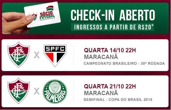 74fc640ad9 O Fluminense iniciou a mobilização de sua torcida para dois grandes jogos  que se aproximam e abriu ao mesmo tempo o checkin para sócios nas duas  próximas ...
