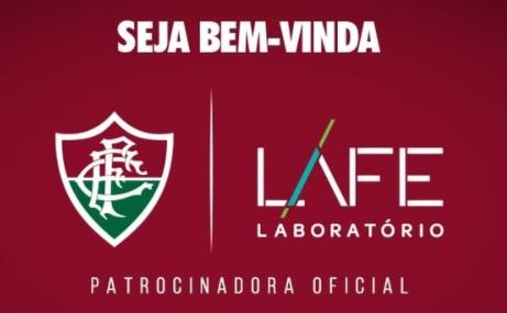 aabb011a6a O Fluminense anunciou a LAFE Laboratório de Análises Clínicas como a sua  mais nova patrocinadora oficial. A marca da empresa se junta à Thinkseg