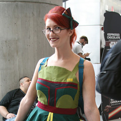 Leslie Aufancy in Boba Fett Dress