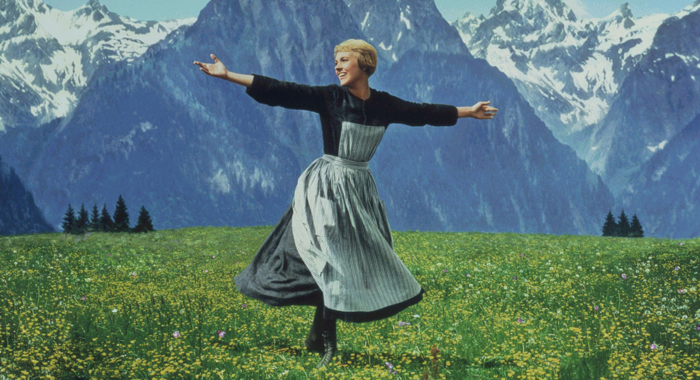 Julie Andrews in The Sound of Music (20th Century-Fox)