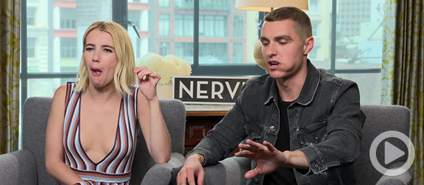 video taking dares from the cast of nerve