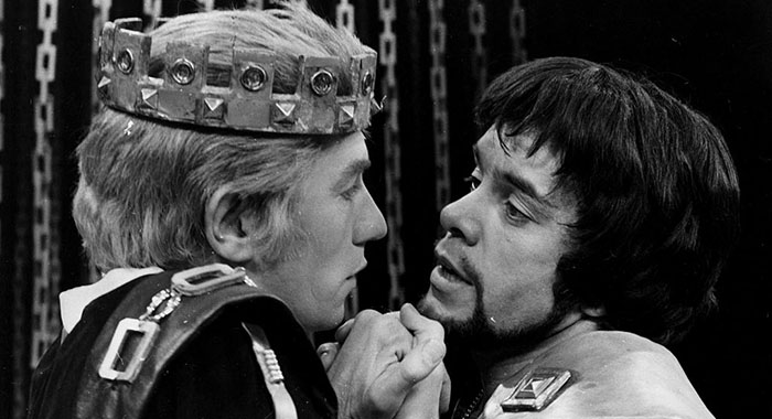 Ian McKellen and James Laurenson in Marlowe's 'Edward II' (Central Press/Getty Images)