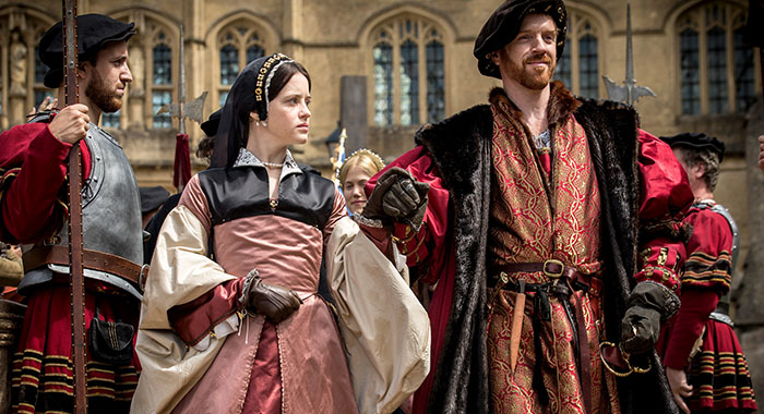 Claire Foy and Damian Lewis in Wolf Hall (PBS)