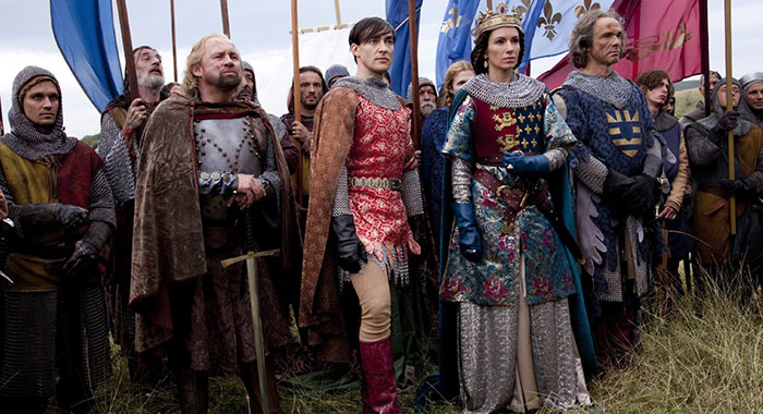 Blake Ritson and Aure Atika in World Without End (ReelzChannel)