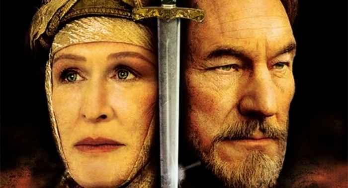 """Glenn Close and Patrick Stewart in """"The Lion in Winter"""" (Showtime)"""
