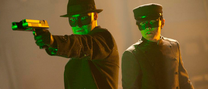 Seth Rogen and Jay Chou in The Green Hornet (2011)