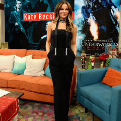 MIAMI, FL - DECEMBER 13:  Actress Kate Beckinsale is seen on the set of 'Despierta America' to promote the film 'Underworld: Blood Wars' at Univision Studios on December 13, 2016 in Miami, Florida.  (Photo by Gustavo Caballero/Getty Images)
