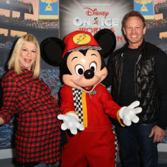 LOS ANGELES, CA - DECEMBER 17:  (L-R) Actress Tori Spelling and Actor Ian Ziering attend Disney On Ice Presents Worlds Of Enchantment Celebrity Guests at Staples Center on December 17, 2016 in Los Angeles, California.  (Photo by Ari Perilstein/Getty Images for Feld Entertainment)