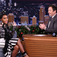 THE TONIGHT SHOW STARRING JIMMY FALLON -- Episode 0595 -- Pictured: (l-r) Musician Janelle Monáe during an interview with host Jimmy Fallon on December 20, 2016 -- (Photo by: Andrew Lipovsky/NBC)