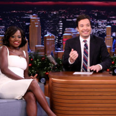 THE TONIGHT SHOW STARRING JIMMY FALLON -- Episode 0596 -- Pictured: (l-r) Actress Viola Davis during an interview with host Jimmy Fallon on December 21, 2016 -- (Photo by: Andrew Lipovsky/NBC)