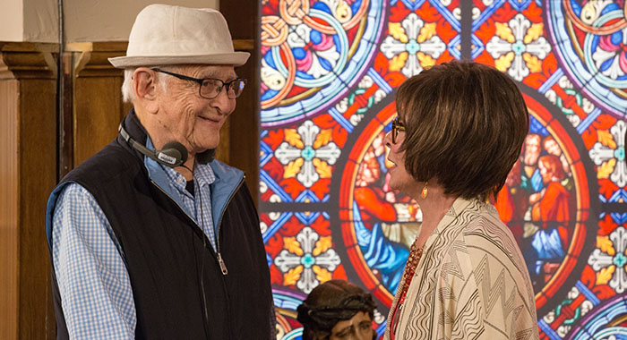 ONE DAY AT A TIME - Norman Lear, Rita Moreno (Michael Yarish/Netflix)