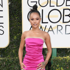 BEVERLY HILLS, CA - JANUARY 08:  Model Karrueche Tran attends the 74th Annual Golden Globe Awards at The Beverly Hilton Hotel on January 8, 2017 in Beverly Hills, California.  (Photo by Frazer Harrison/Getty Images)