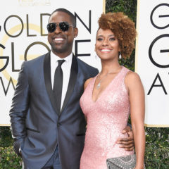 BEVERLY HILLS, CA - JANUARY 08:  Actor Sterling K. Brown (L) and Ryan Michelle Bathe attend the 74th Annual Golden Globe Awards at The Beverly Hilton Hotel on January 8, 2017 in Beverly Hills, California.  (Photo by Frazer Harrison/Getty Images)