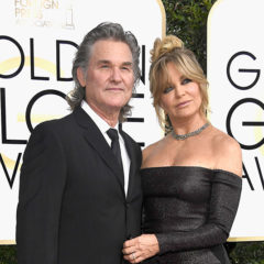 BEVERLY HILLS, CA - JANUARY 08:  Actors Kurt Russell (L) and Goldie Hawn attend the 74th Annual Golden Globe Awards at The Beverly Hilton Hotel on January 8, 2017 in Beverly Hills, California.  (Photo by Frazer Harrison/Getty Images)