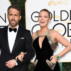 BEVERLY HILLS, CA - JANUARY 08:  Actors Ryan Reynolds (L) and Blake Lively attend the 74th Annual Golden Globe Awards at The Beverly Hilton Hotel on January 8, 2017 in Beverly Hills, California.  (Photo by Frazer Harrison/Getty Images)
