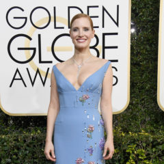 BEVERLY HILLS, CA - JANUARY 08:  Actress Jessica Chastain attends the 74th Annual Golden Globe Awards at The Beverly Hilton Hotel on January 8, 2017 in Beverly Hills, California.  (Photo by Frazer Harrison/Getty Images)