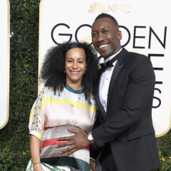 BEVERLY HILLS, CA - JANUARY 08:  Actor Mahershala Ali (R) and Amatus Sami-Karim attend the 74th Annual Golden Globe Awards at The Beverly Hilton Hotel on January 8, 2017 in Beverly Hills, California.  (Photo by Frazer Harrison/Getty Images)