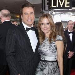 BEVERLY HILLS, CA - JANUARY 08:  Actors John Travolta (L) and Kelly Preston at the 74th annual Golden Globe Awards sponsored by FIJI Water at The Beverly Hilton Hotel on January 8, 2017 in Beverly Hills, California.  (Photo by Jonathan Leibson/Getty Images for FIJI Water)