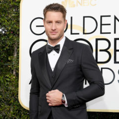 """74th ANNUAL GOLDEN GLOBE AWARDS -- Pictured: Justin Hartley, """"This is Us"""" arrive to the 74th Annual Golden Globe Awards held at the Beverly Hilton Hotel on January 8, 2017 -- (Photo by: Kevork Djansezian/NBC)"""