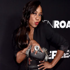 """LOS ANGELES, CA - JANUARY 05:  Actrerss Tichina Arnold attends the Premiere of Open Road Films' """"Sleepless""""  at Regal LA Live Stadium 14 on January 5, 2017 in Los Angeles, California.  (Photo by Alberto E. Rodriguez/Getty Images)"""