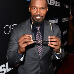 """LOS ANGELES, CA - JANUARY 05:  Actor Jamie Foxx arrives at the premiere of Open Road Films' """"Sleepless"""" at the Regal LA Live Stadium 14 Theatre on January 5, 2017 in Los Angeles, California.  (Photo by Kevin Winter/Getty Images)"""