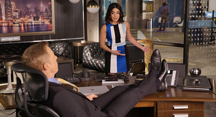 Alan Tudyk, Vanessa Hudgens in Powerless (Chris Haston/NBC)