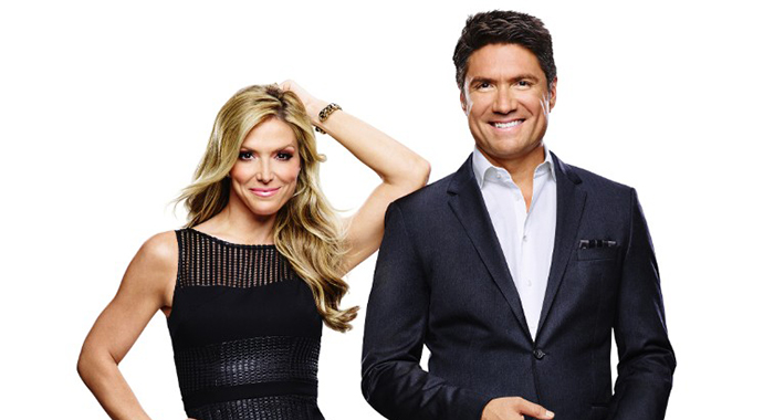 The Insider hosts Debbie Matenopoulos, Louis Aguirre (Cliff Lipson/CBS)