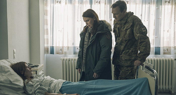 Abigail Hardingham, Keeley Hawes, David Morrissey in season 2 of The Missing (Robert Viglasky/New Pictures Limited/Starz)